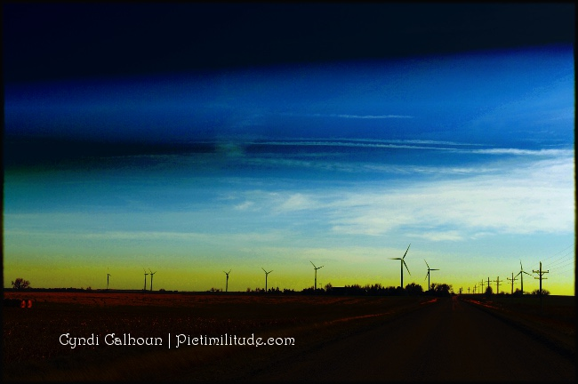 Kansas Windmills - with gradient