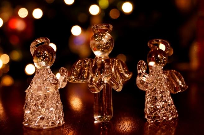 Glass Christmas Angels