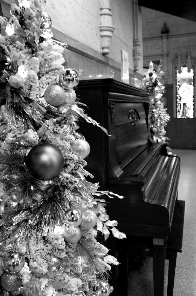 Piano at Christmas