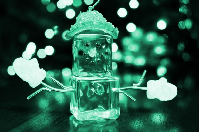 Ice Snowman and Bokeh