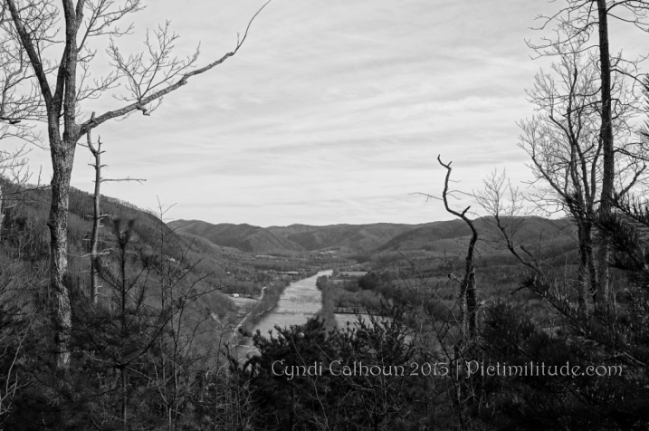 A view of the French Broad River in Western North Carolina